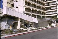 Failure of precast concrete in 1971 San Fernando earthquake (Steinbrugge, EQIIS collection, UCB)